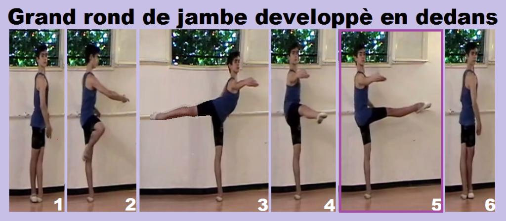 Grand rond de jambe developpè en dedans1